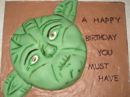 Yoda bday cake